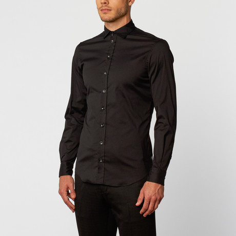 Long-Sleeve Dress Shirt // Black (XS)