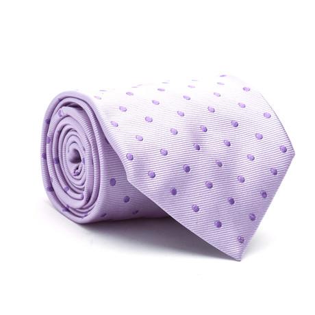 Dots Silk Tie // Purple
