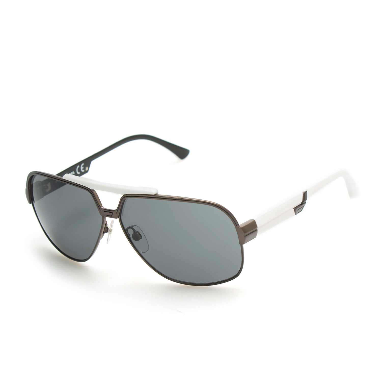 Mason Sunglasses // White + Brown Frames - Diesel Sunglasses - Touch ...