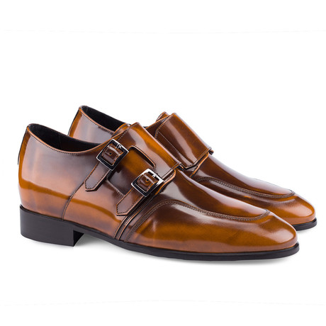 Ontario Double Monkstrap // Brown (US: 7)