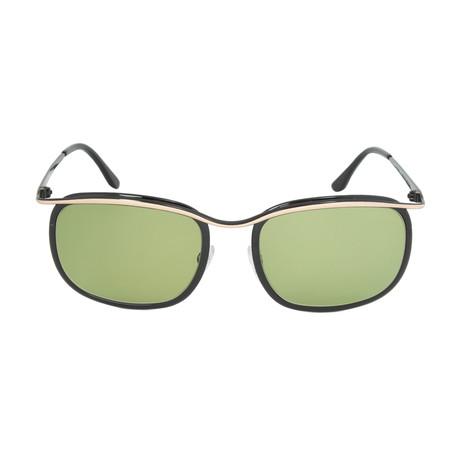 Gold Frame Rectangular Sunglasses : Tom Ford // Marcello Rectangular Sunglasses // Rose Gold ...