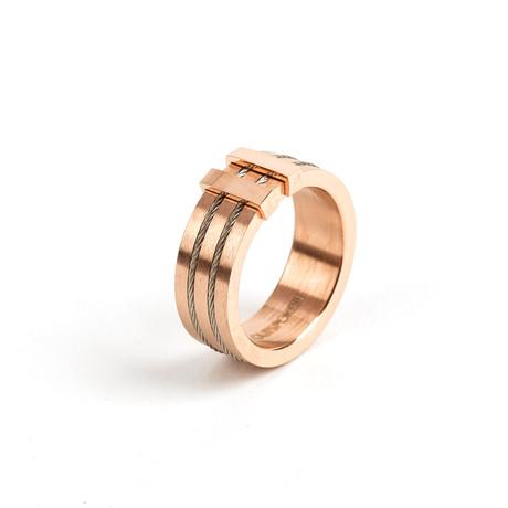 Cyno // Rose Gold + Titanium (Size 8)