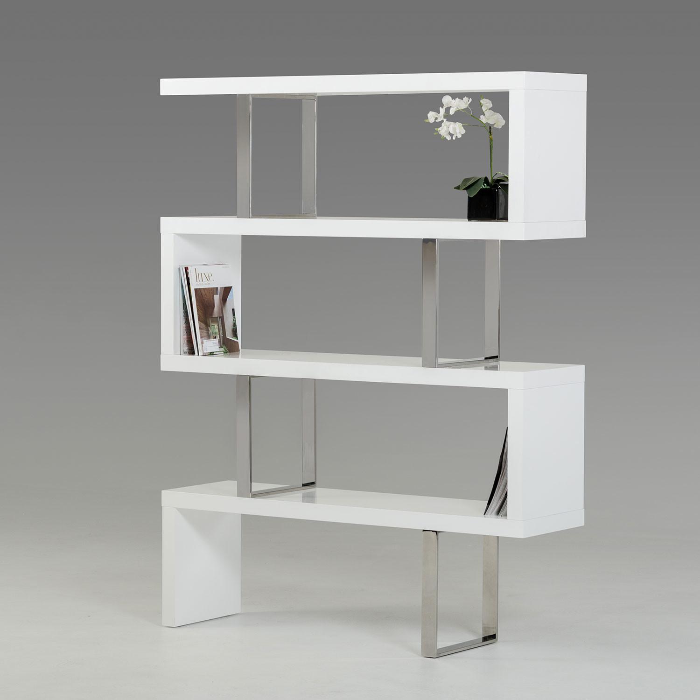 Modrest Maze Modern High Gloss Bookcase // White