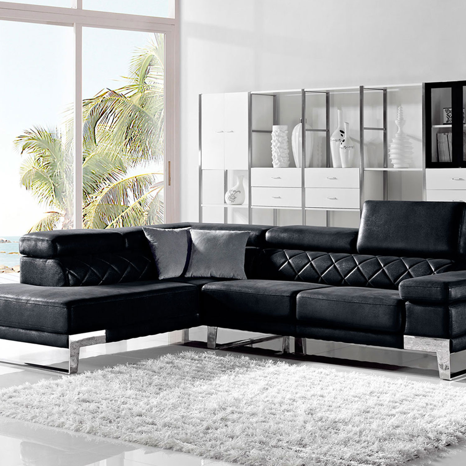 Divani Casa Arden Modern Fabric Sectional Sofa