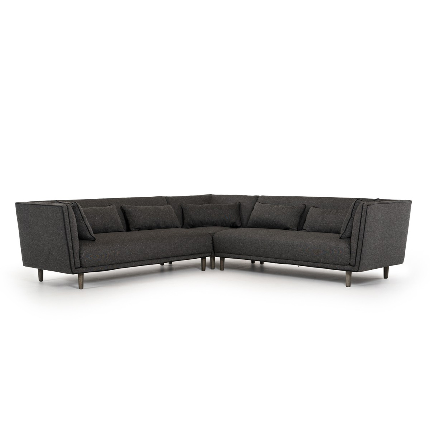 Divani Casa Conway Modern Grey Fabric Sectional Sofa VIG