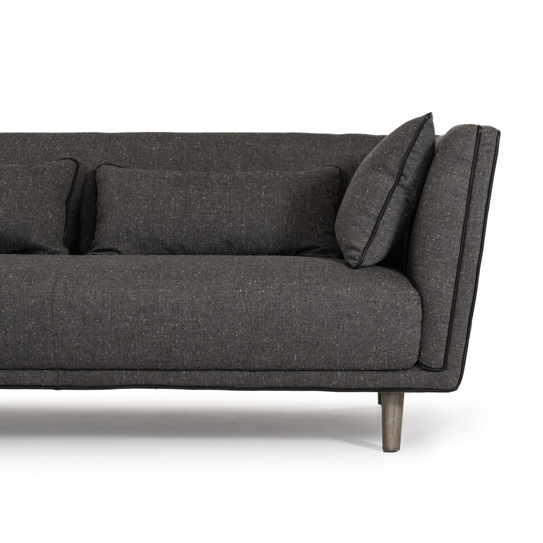 Divani Casa Conway Modern Grey Fabric Sectional Sofa VIG