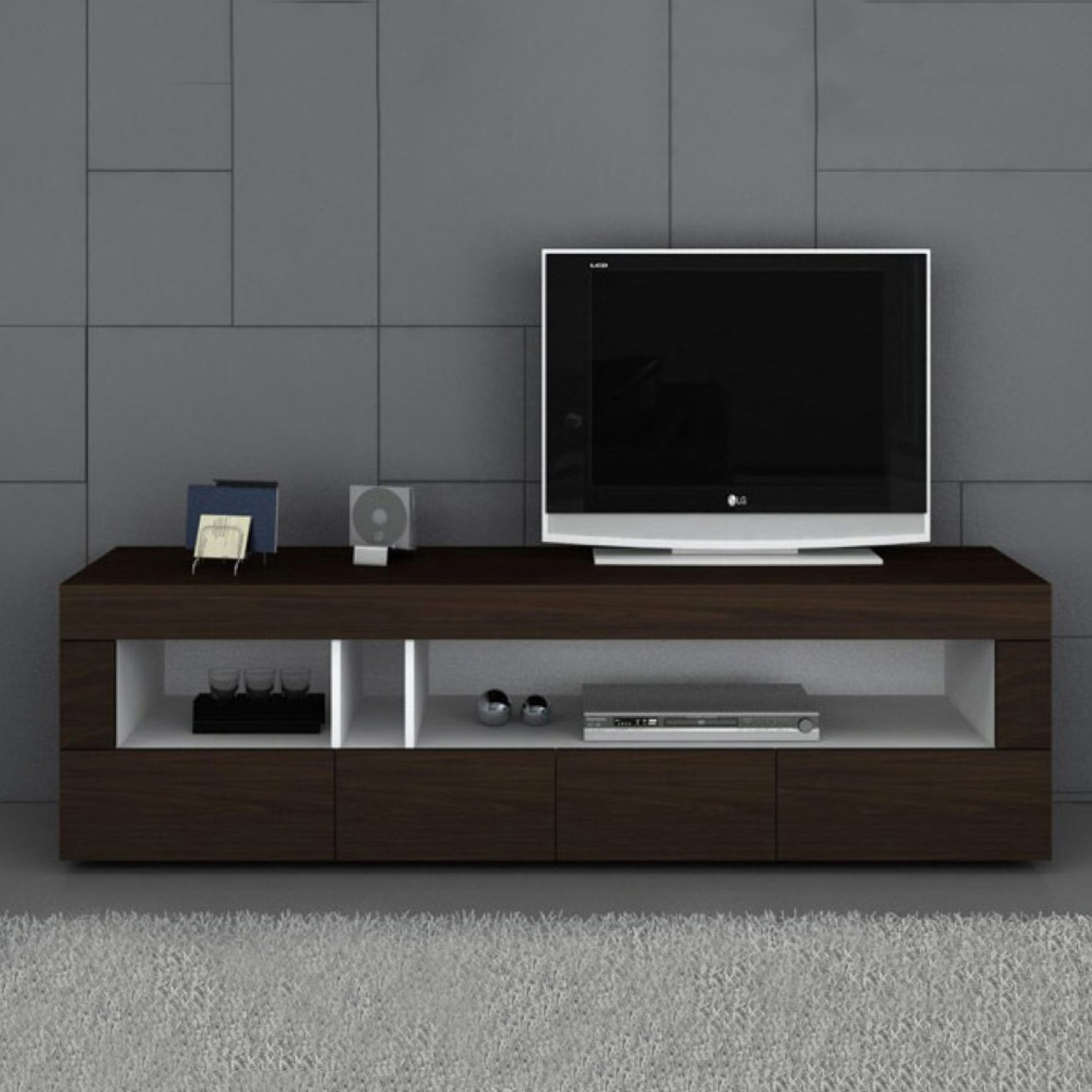 Modrest Aura Modern Tv Stand Tobacco Vig Furniture Touch Of