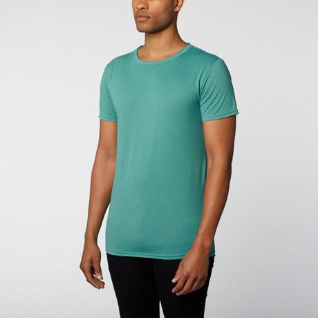 The Project Garments // Burnout Slub Crew Neck Tee // Green (S)