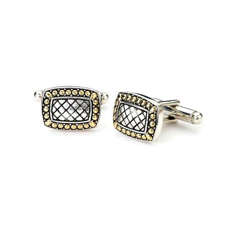 Sterling Silver + Gold Cufflinks