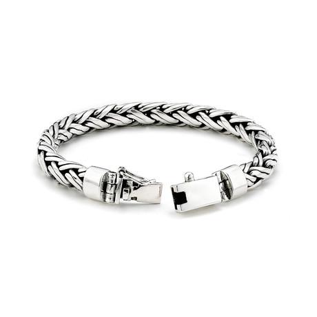 "Sterling Silver Padian Woven Bracelet // 6mm (8.5""L // 52g)"