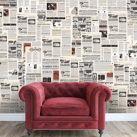 Vintage Newspaper // Removable