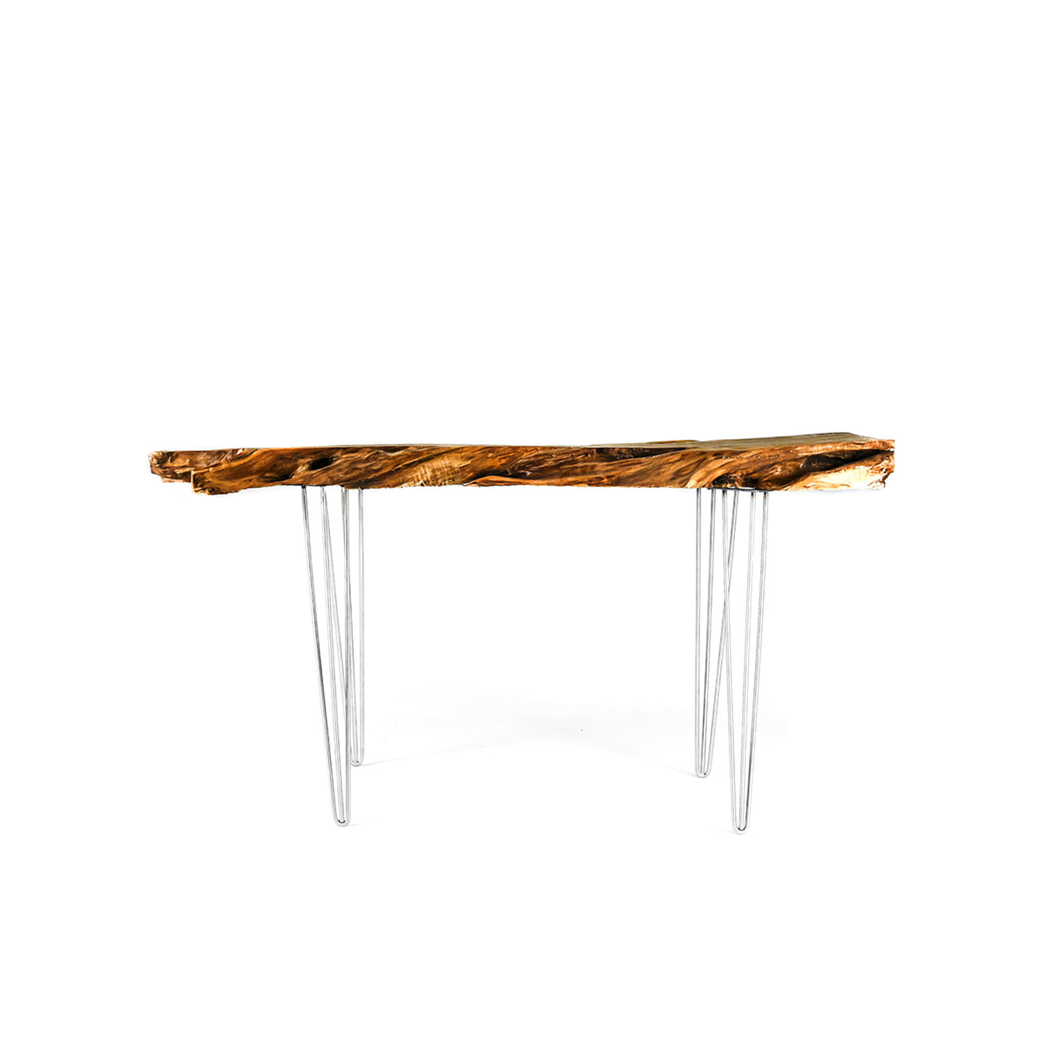 Live edge Buttonwood Coffee Table Natural Modern Wood Leg
