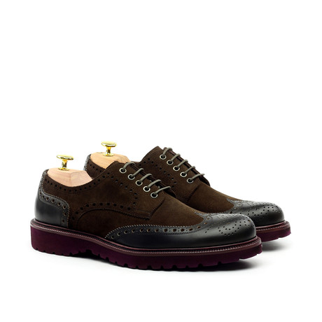 LORENS // Oxford Brogue Captoe // Brown (Euro: 42)