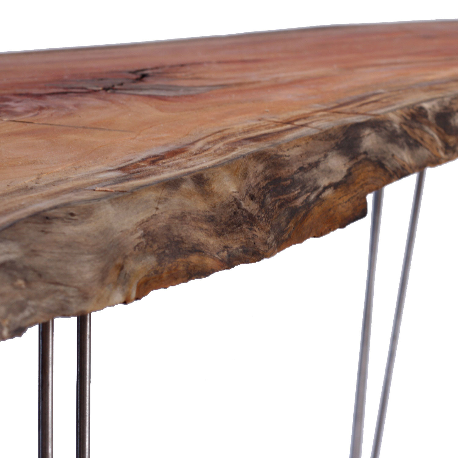 live edge mahogany coffee table natural mid century classic