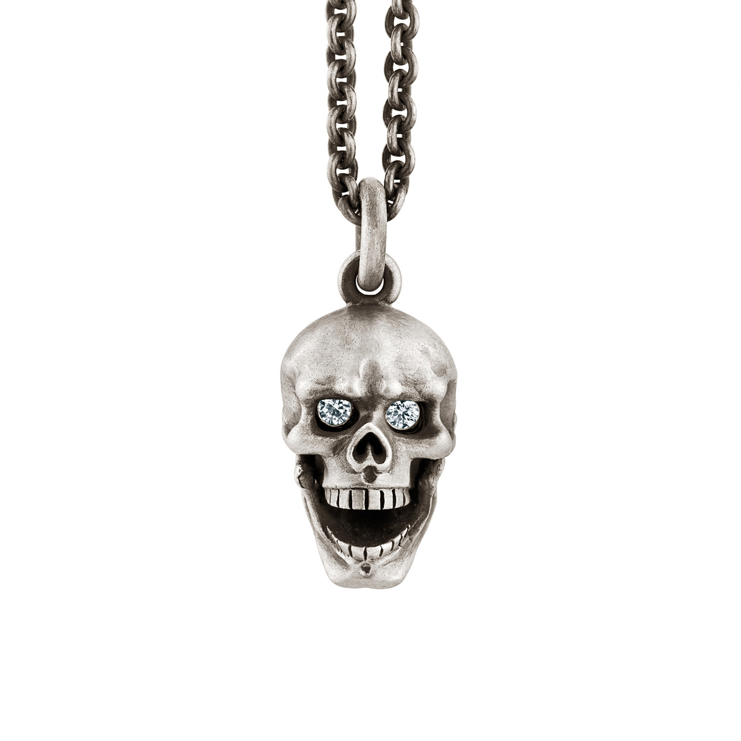 Diamond eyes hinged jaw skull pendant sterling silver snake diamond eyes hinged jaw skull pendant sterling silver mozeypictures Choice Image