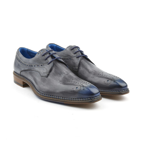 Intersuola Estivo Medallion Derby // Charcoal + Blue