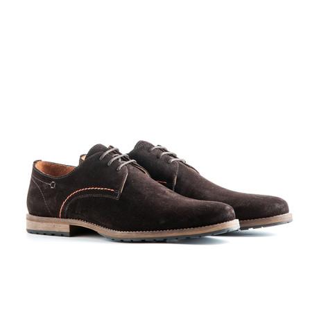 Manchester Suede Dress Shoe // Dark Brown