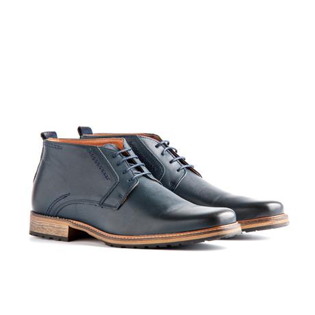 London Leather Desert Boot // Dark Blue