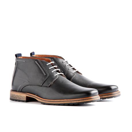 London Leather Dress Shoe // Dark Grey