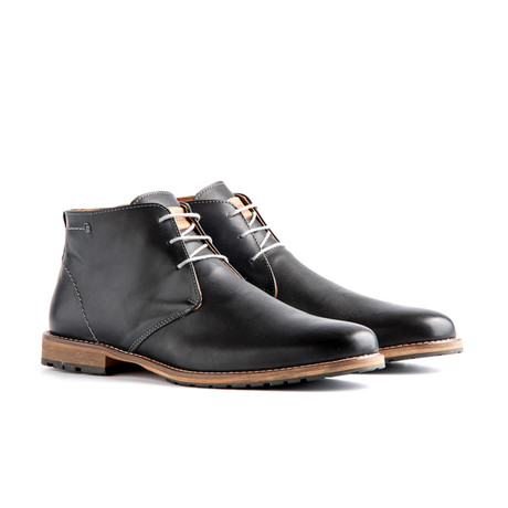 Liverpool Leather Ankle Boot // Dark Grey