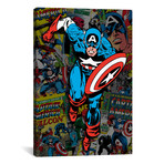 "Marvel Comic Book Captain America Covers Collage (18""W x 26""H x 0.75""D)"