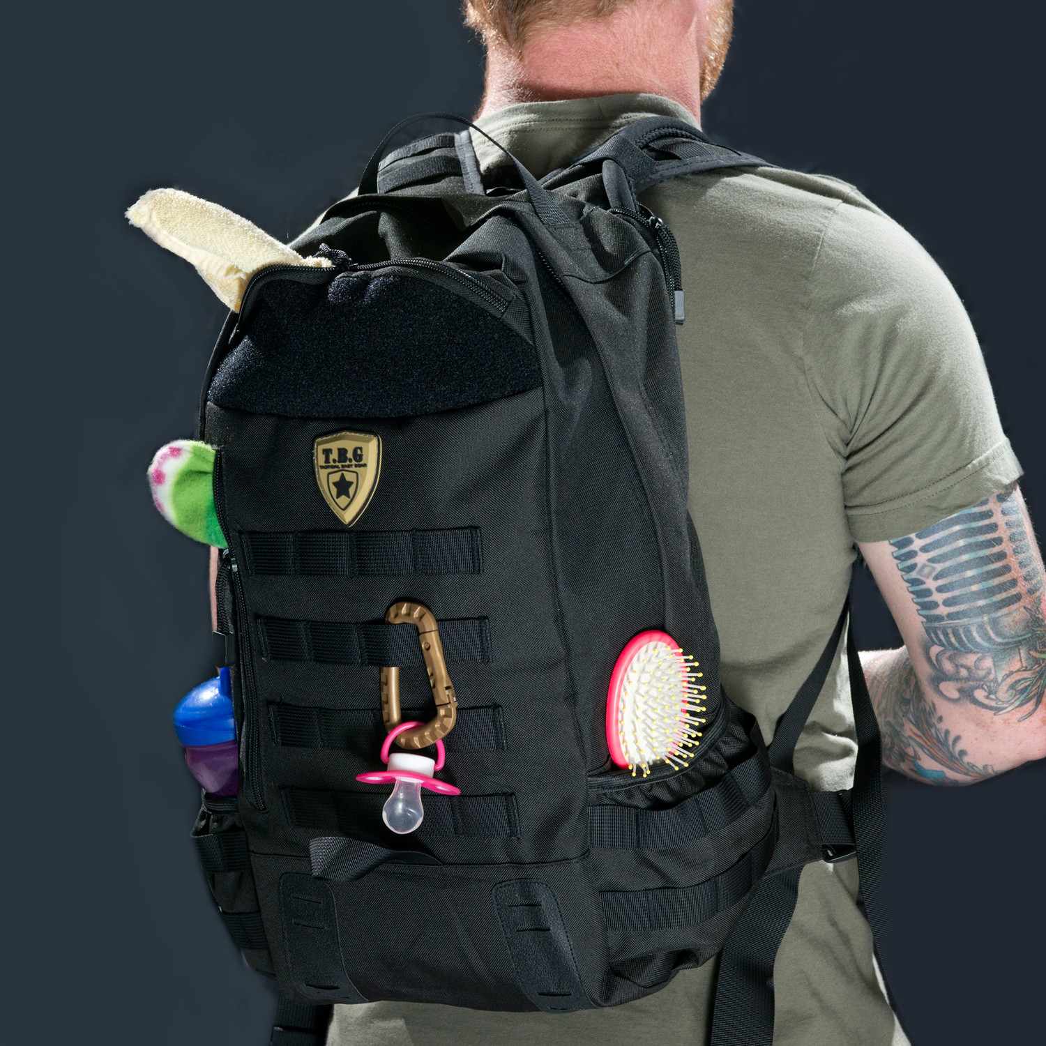 tactical baby gear  hardcore baby bags  touch of modern - day pack  (coyote brown)