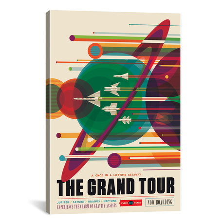 "The Grand Tour // NASA (12""W x 18""H x 0.75""D)"