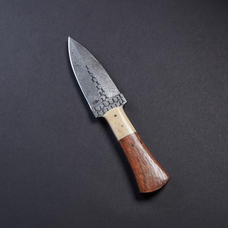 Double Edged Dagger // Bone + Walnut Wood