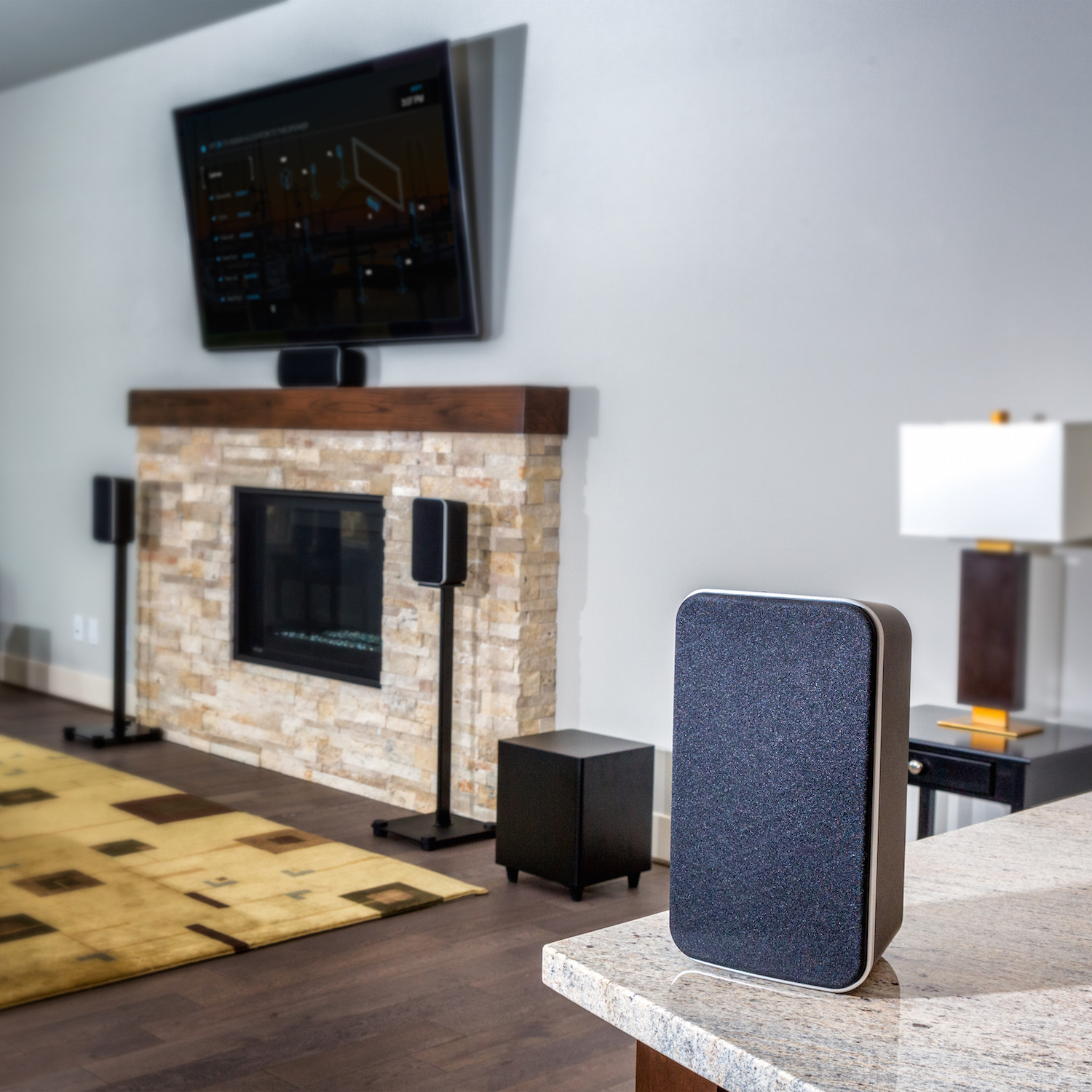 hd wireless 5 1 home theater system axiim touch of modern
