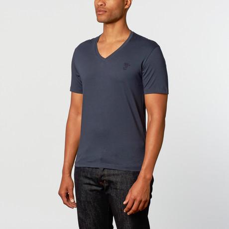 Royal Knights & Co. // Short Sleeve V-Neck Tee // Navy (2XL)