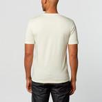 Versace // Short Sleeve V-Neck Tee // Cream (XL)