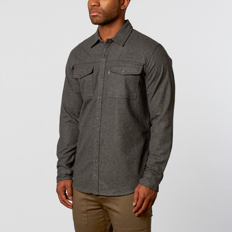 Overton Workshop // Santiam Flannel Shirt // Charcoal