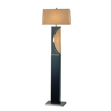 Half Moon // Floor Lamp // Dark Brown