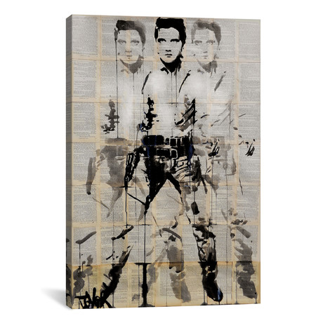 "Elvis After Andy // Loui Jover (18""W x 26""H x 0.75""D)"