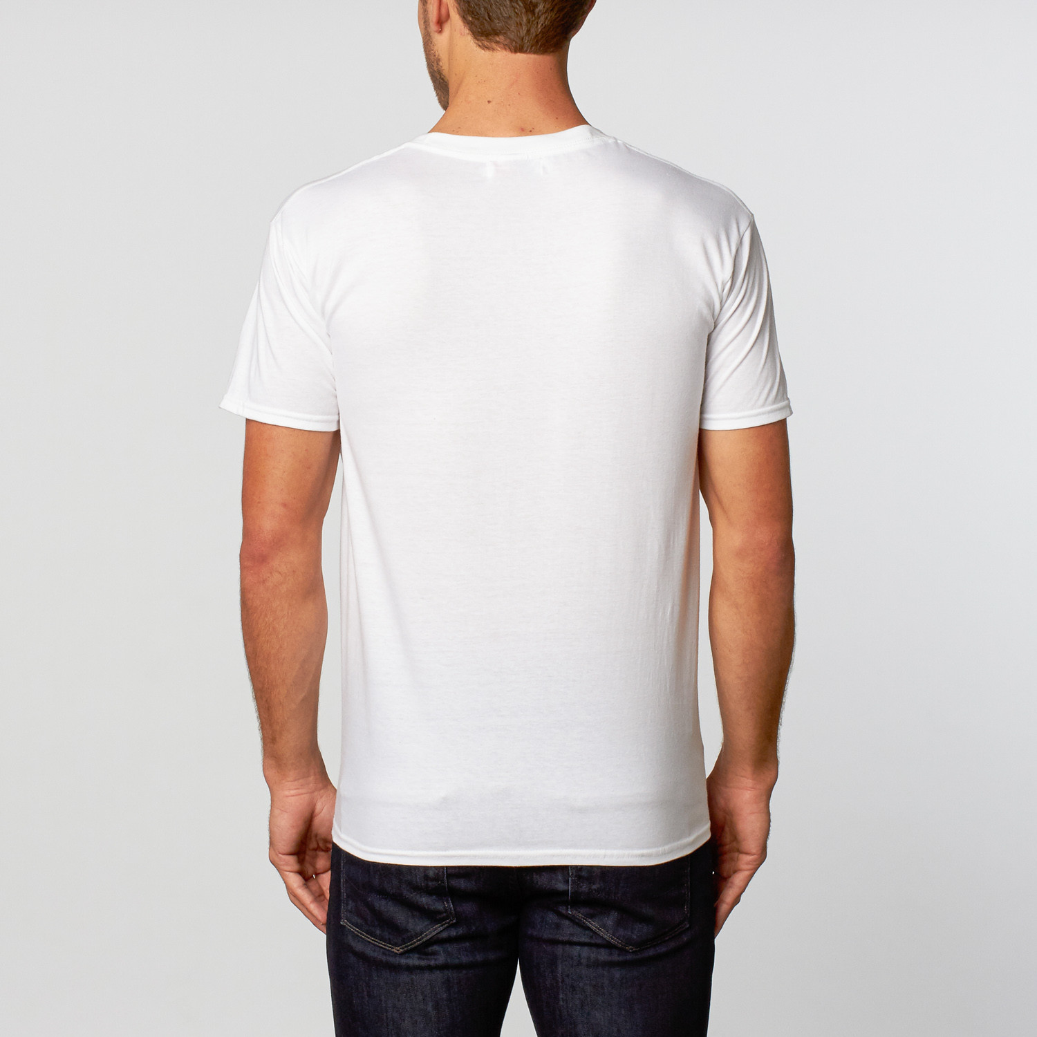 Crew neck t shirt white s rgb touch of modern for Crew neck white t shirt