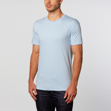 Crew Neck T-Shirt // Light Blue (L)