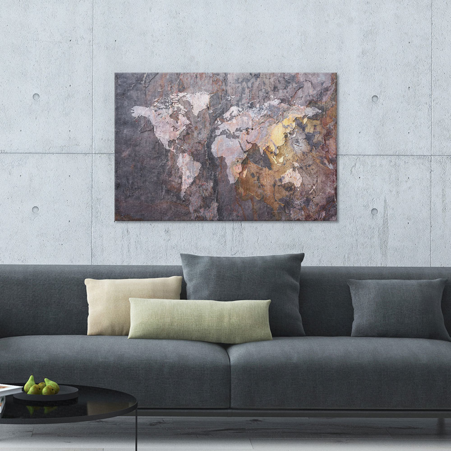 World map on stone background 40w x 26h x 075d vintage world map on stone background 40w x 26h gumiabroncs Gallery