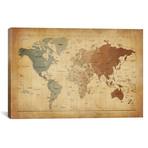 "Map of The World III // Michael Tompsett (40""W x 26""H x 1.5""D)"