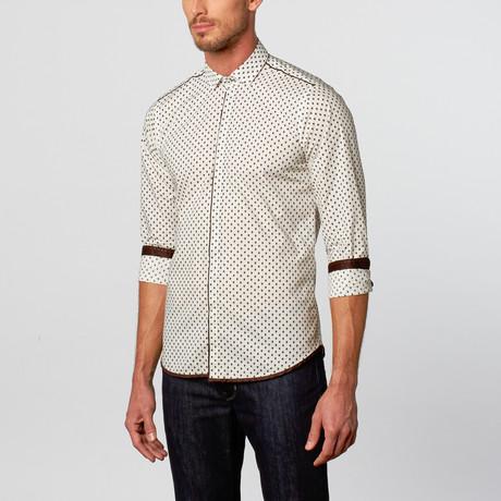 Mattschwarz // Bold Trim Button-Up // White (S)