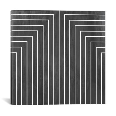 "Mid Century Modern Art- Geometric Pattern 90 // 5by5collective (12""W x 12""H x 0.75""D)"