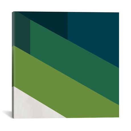 """Modern Art- Green Blades of Grass // 5by5collective (12""""W x 12""""H x 0.75""""D)"""