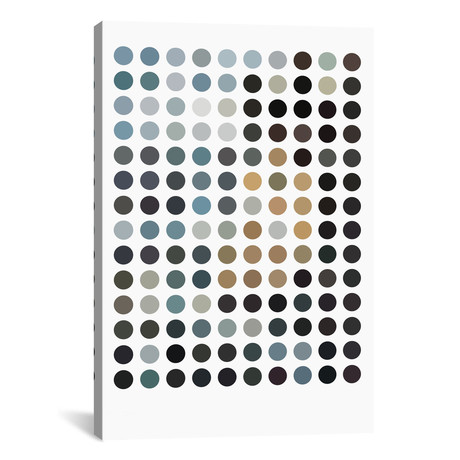 "Modern Art - Earthy Dots // 5by5collective (12""W x 18""H x 0.75""D)"