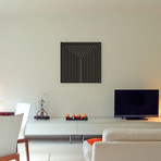 """Modern Art- Clinton Plaza from Black Series // 5by5collective (12""""W x 12""""H x 0.75""""D)"""
