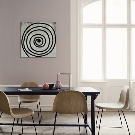 """Black Swirl // 5By5Collective (18""""W x 18""""H x 0.75""""D)"""