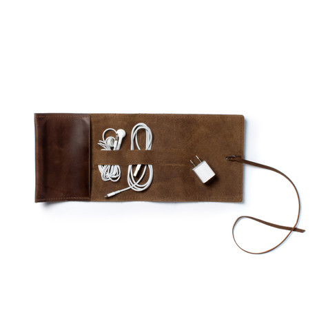 Sidekick Leather Cord Wrap (Brown)