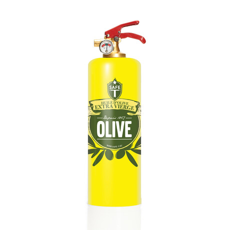 Safe-T Designer Fire Extinguisher // Olive