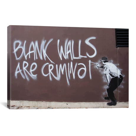 """Blank Walls Are Criminal (18""""W x 26""""H x 0.75""""D)"""