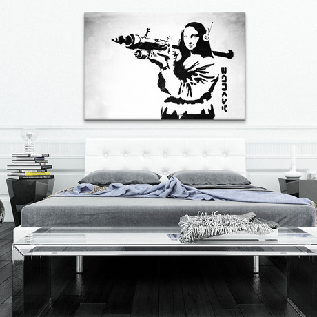 Mona Lisa With Bazooka Rocket
