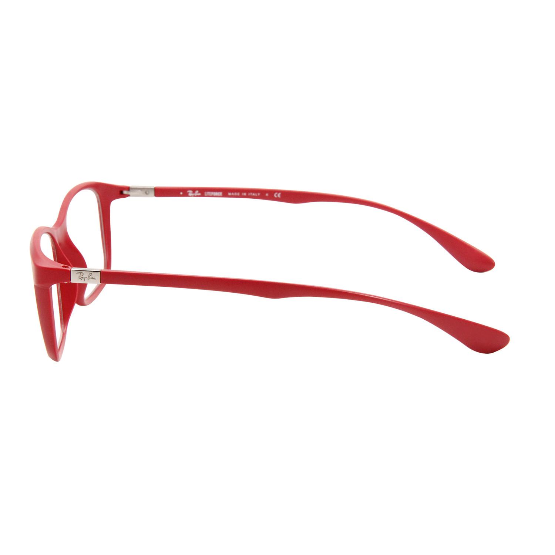 Rayban RX Glasses // RB7036 // 52mm Red Frame - Designer Optical ...