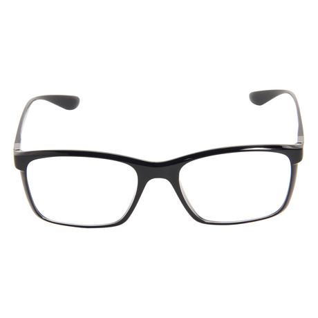 Black Frame Designer Glasses : Rayban RX Glasses // RB7036 // 52mm Black Frame - Designer ...